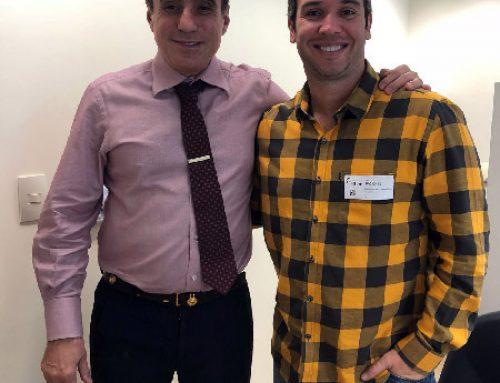 Amigo e paciente, Caio Ribeiro passa por artroscopia com o Prof. Dr. Rene Abdalla